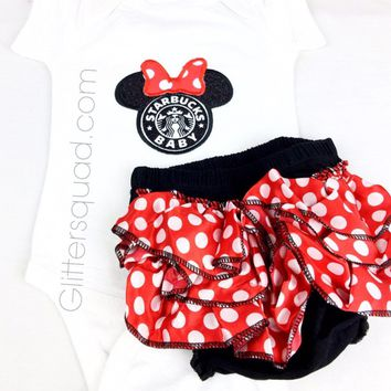 CLEARANCE Baby Minnie Mouse Inspired Petti Bloomers ONLY