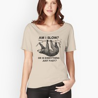 'Sloth am I slow?' T-Shirt by ironydesigns