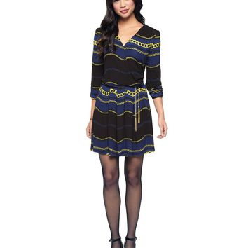 Pitch Black Royal Royal Windsor Matte Jersey Dress by Juicy Couture,