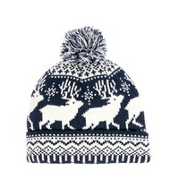 ASOS Bobble Beanie With Stag Design at asos.com