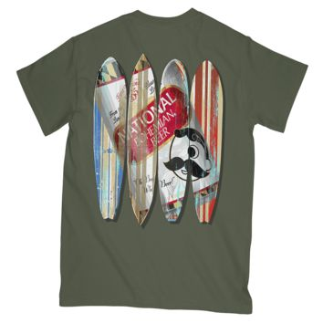 *PRE-ORDER* Natty Boh Can Surfboards (Sage) / Shirt (Ship Date: 5/25)