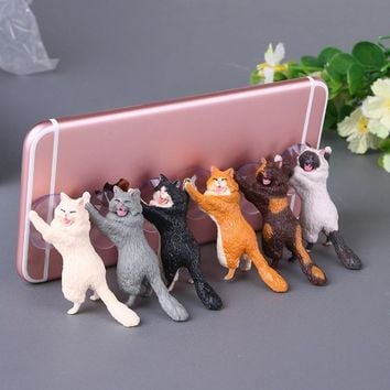 Cat Phone Holder Cute With Suction Cups For Smart Phones And Tablets