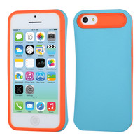 Hybrid Inner Card slot Protector Case for iPhone 5C - Baby Blue/Orange
