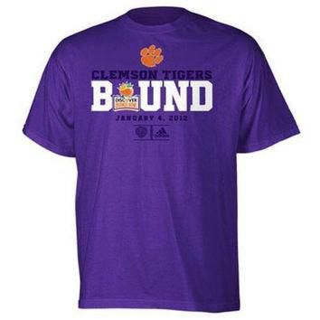 Clemson Tigers 2012 BCS Orange Bowl Bound t-shirt Adidas new NCAA ACC Football