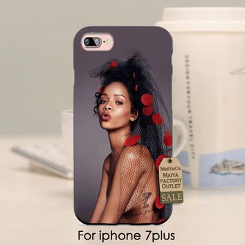 MaiYaCa soft black tpu silicone  Rihanna pop music celebrity beautiful girl  Phone Accessories  For iPhone se 5s 6s 7 plus case