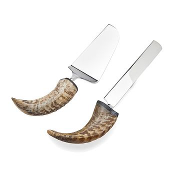 Natural Horn Cake Knife/Server
