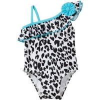 Flapdoodles Baby Girls' Leopard Chic One Piece Suit