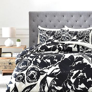 DENY Designs KAHL Arianna Duvet Cover in Black