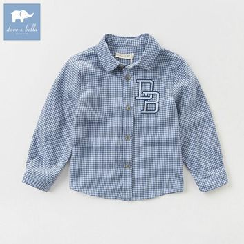 DK0796 dave bella autumn kids boy fashion shirt boys boutique clothes children soft shirts