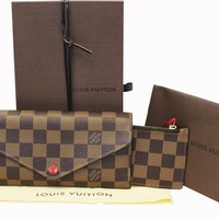 Authentic LOUIS VUITTON Damier Ebene Josephine Wallet E3577