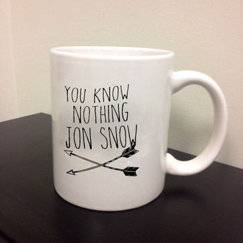 Game of Thrones You Know Nothing Jon Snow for custom ceramics mug and cup Custom mug