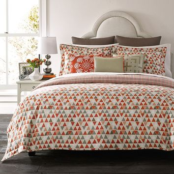 Happy Chic by Jonathan Adler Holly 3-pc. Reversible Duvet Cover Set (Orange)