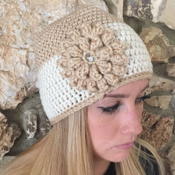 Crochet Beanie Hat Winter Hat Shell Beanie Skull Cap Teens Back to School Winter Beanie Fall Beanies