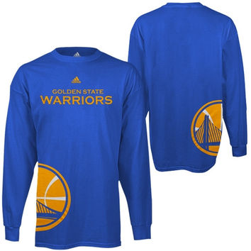 adidas Golden State Warriors Youth Getting Big Long Sleeve T-Shirt - Light Blue - http://www.shareasale.com/m-pr.cfm?merchantID=7124&userID=1042934&productID=555879413 / Golden State Warriors