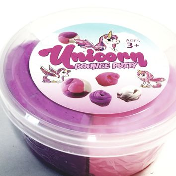 SF Toys Unicorn Tri-Color Bounce Putty 30g of Slime/Putty 3.17oz of Goop in Plastic Case