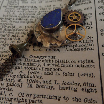 Steampunk Necklace, Boho, Shabby Chic, Industrial S27