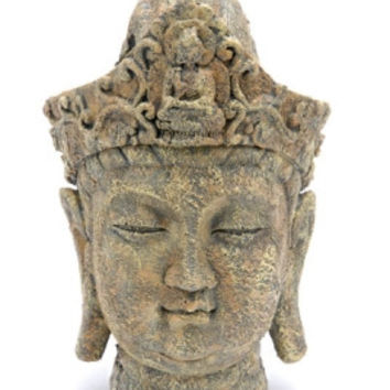 Buddha Head Ornament Deco Replica