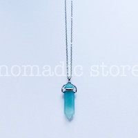 oceanic amazonite sterling silver necklace - Nomadic Store