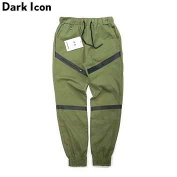 Waterproof Zipper Harem Pants Men Full Length 2017 Drawstring Waist Midweight Hipster Men's Pants Elastic Cuff Pants Men
