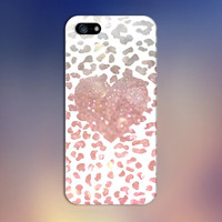 Pink Bokeh Cheetah Print x Heart Design Case for iPhone 6 6 Plus iPhone 5 5s 5c iPhone 4 4s Samsung Galaxy s6 s5 s4 & s3 and Note 4 3 2