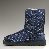 UGG Classic Short Sparkles Boots 1002766 Blue