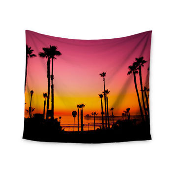 "Juan Paolo ""Pacific Dream"" Magneta Orange Wall Tapestry"