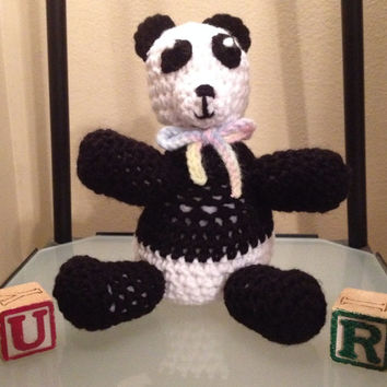 Crochet Panda Bear Pal Stuffed Animal