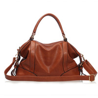 Women PU Leather Retro Bag Women Messenger Bag Vintage Handbag