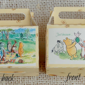 Winnie The Pooh Favor Boxes, Favor Box, Party Favors,Winnie the Pooh Party, Pooh Birthday Party, Winnie The Pooh Baby Shower, Party Supplies