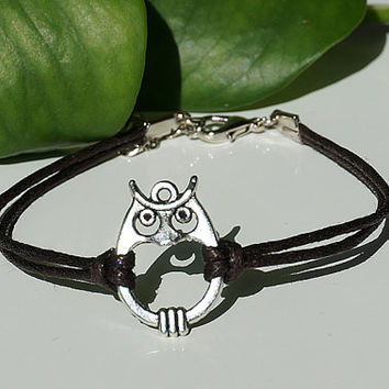 Anklet, Bracelet, Antiqued Bronze Anklet, Copper Chain, Owl  Anklet Summer Trending Accessories, Personalized Jewelries
