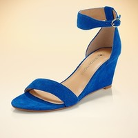 Boston Proper Suede must-have wedge
