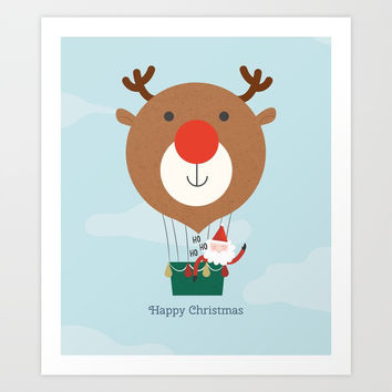 Day 13/25 Advent - Air Rudolph Art Print by lalainelim