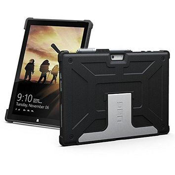 UAG Microsoft Surface Pro (2017) & Surface Pro 4 Feather-Light Metropolis Rugged [BLACK] Aluminum Stand Military Drop Tested Case