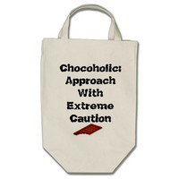 """Chocoholic"" Grocery Bag / Avalon Media"