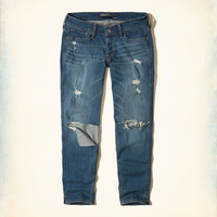 Girls Ultra Low-Rise Slim Boyfriend Jeans | Girls Bottoms | HollisterCo.com