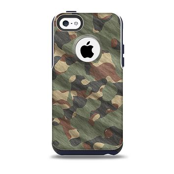 Traditional Camouflage Fabric Pattern Skin for the iPhone 5c OtterBox Commuter Case