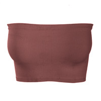 Rib Tube Top-Mauve