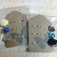 CLEARANCE - Gift Set - Flower Jewel Hair Pin Set
