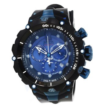 Invicta 14417 Men's Jason Taylor Venom Blue Dial Rubber Strap Chronograph Dive Watch