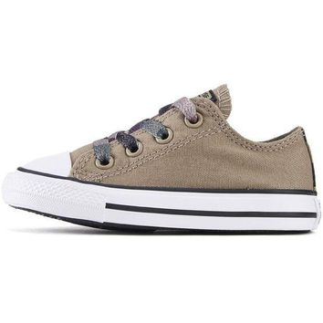 ESBI7E Converse for Infants: Chuck Taylor All Star Ox Sandy/Camo Sneakers