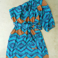 Indigo Artisan Ikat Dress
