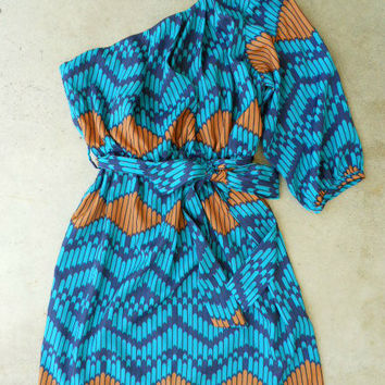 Indigo Artisan Ikat Dress [3048] - $36.00 : Vintage Inspired Clothing & Affordable Summer Dresses, deloom | Modern. Vintage. Crafted.