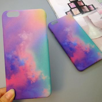 Tie-dyed iPhone X 8 7 7Plus & iPhone 6s 6 Plus Case Personal Tailor Cover + Gift Box-487