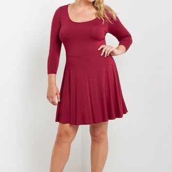 Montage Fit and Flare Dress Plus Size