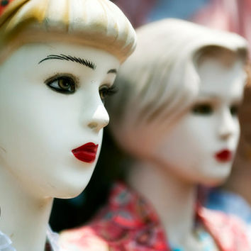 Mannequin Row - Doll-like Figures, Fine Art Photography, Gallery Wrap or Print, Multiple Sizes