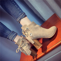 Winter fashion new high - heeled fashion matte [9432935050]