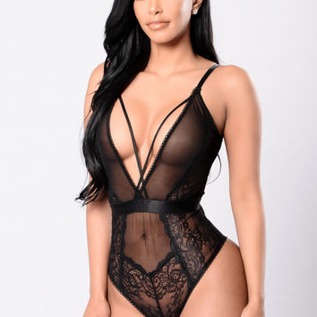 Manipulation Teddy Bodysuit - Black