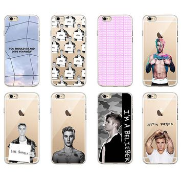 For iPhone 7 7Plus 6 6S 6Plus 8 8Plus X SAMSUNG GALAXY Fashion JUSTIN BIEBER Sorry Love Yourself Soft TPU Phone Case