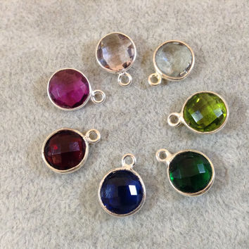 Hydro Quartz Round 1-Ring Bezel Pendant, 6mm, available in multiple colors!