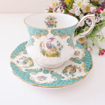 Rosina Queen's floral Coffee cup and saucer